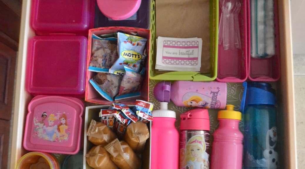 Organizing Lunch Box Stuff