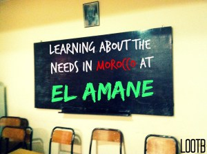 Life Out of the Box: Learning about the needs in morocco at el amane