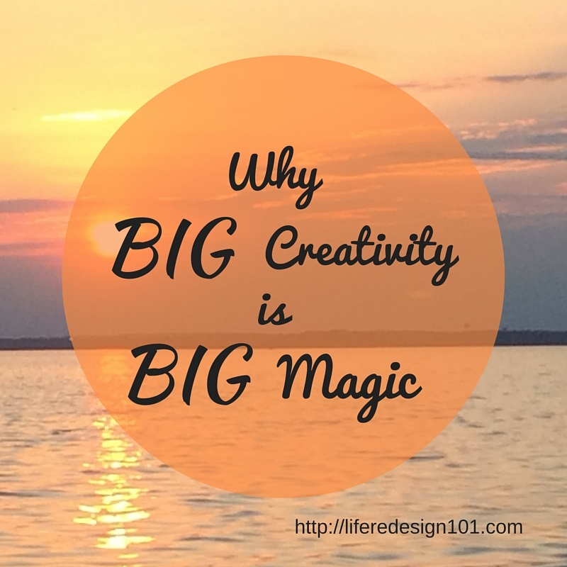 Sunset, creativity and magic