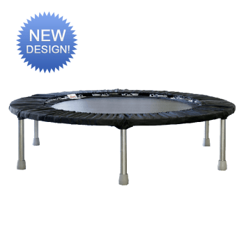 Image shows a small trampoline.