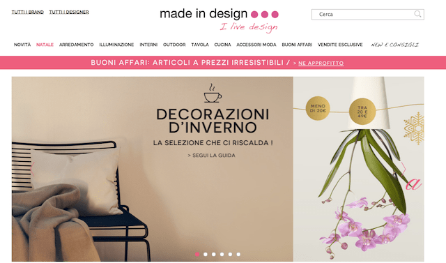 I migliori siti di shopping on line dove comprare in for Siti di design