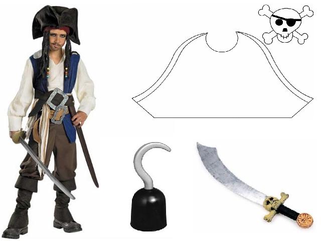 costume di carnevale da pirata