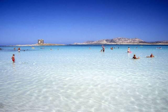 Spiaggia La Pelosa (località Stintino, provincia di Sassari, costa Nord occidentale della Sardegna)