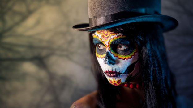 Trucco da teschio messicano o Catrina
