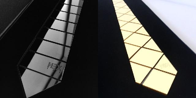 hex tie -argento-oro-cravatte