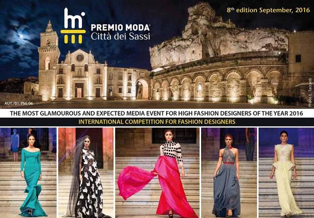 Locandina Premio Moda Città dei Sassi 6 settembre 2016-a