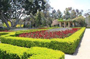 The Picture shows Alcazar Garden at Balboa Park, San Diego, California