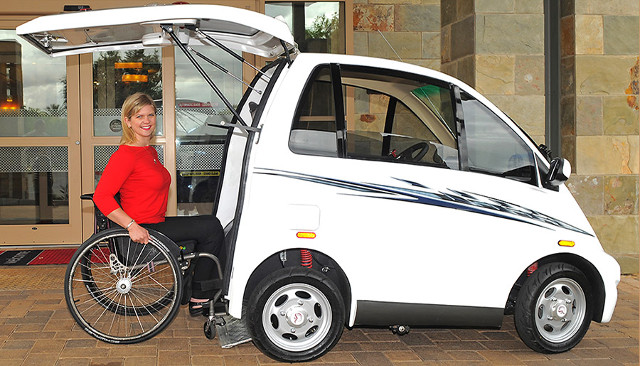 The Chairiot solo is a rear entry, wheelchair accessible vehicle.