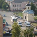 Площадь автовокзала. Бронницы. 2008