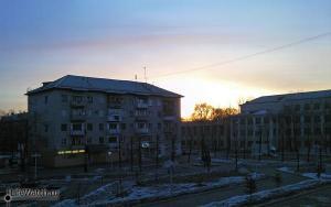 Четыре часа утра (или ночи)...не спится. Вид из гостиницы Восток на ул.Шалом-Алейхеме