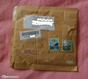 Конверт в котором пришел корпус. Hongkong post (Почта Гонконга).