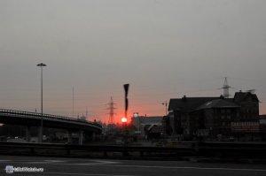 Восход...выезжаем из Москвы