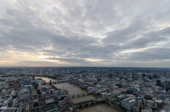 Панорама Лондона с небоскреба Shard
