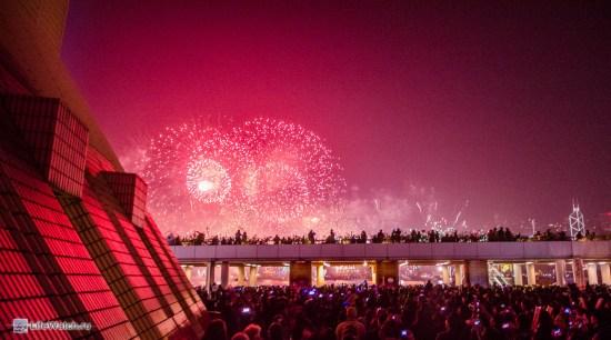 Новогодний фейерверк. Гонконг 2014!