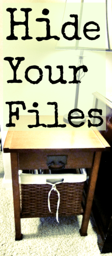 Hide Your Files - Charming Imperfections