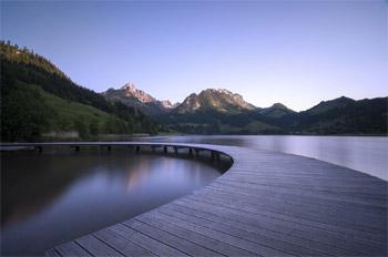 mountain lake scene Taking Notice For Change