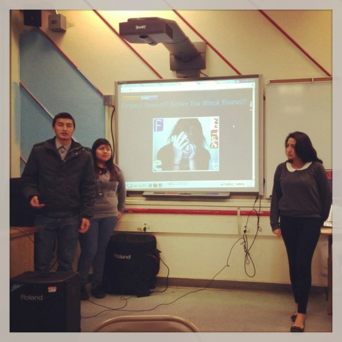 Foshay Learning Center Technology Academy students present their PSA campaign on cyber bullying.