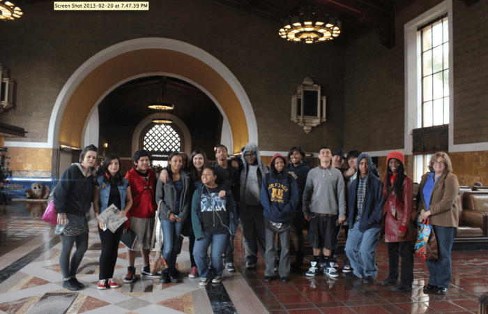 Room13/Eliot and Room13/JohnMuir at Union Station - the oldest train station in Los Angeles.