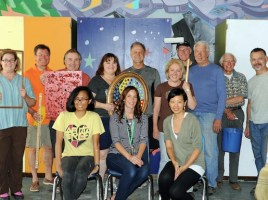 """Pasadena Rotary's """"Done In A Day"""" Team, Light Bringer Project and Eliot Arts Successfully Move Room13/Eliot"""