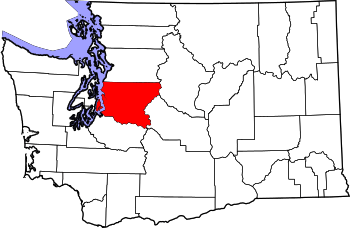 Map of Washington highlighting King County