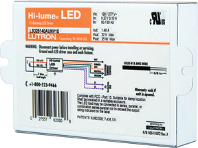 Lutron Hi-lume® A-Series LED Driver Offers 1% Dimming for Almost Any LED Fixture