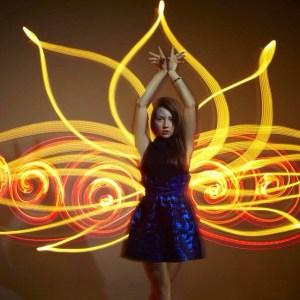 Gold and Indigo series #5 пятый лотос #фризлайт #freezelight #Lightpaint