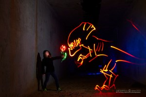 Light painting work - Je T'aime (altered Perception)