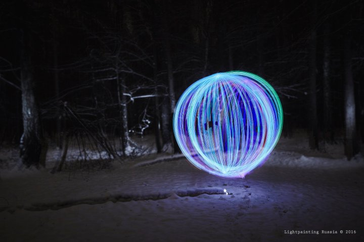 Light painting spin marker