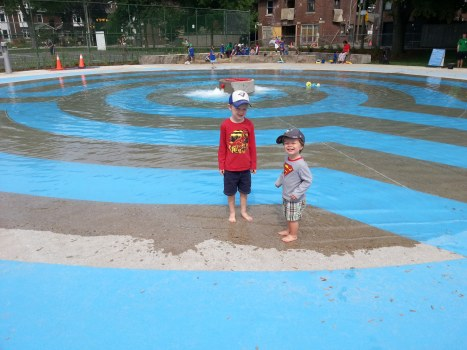 Summer splash pad at Withrow