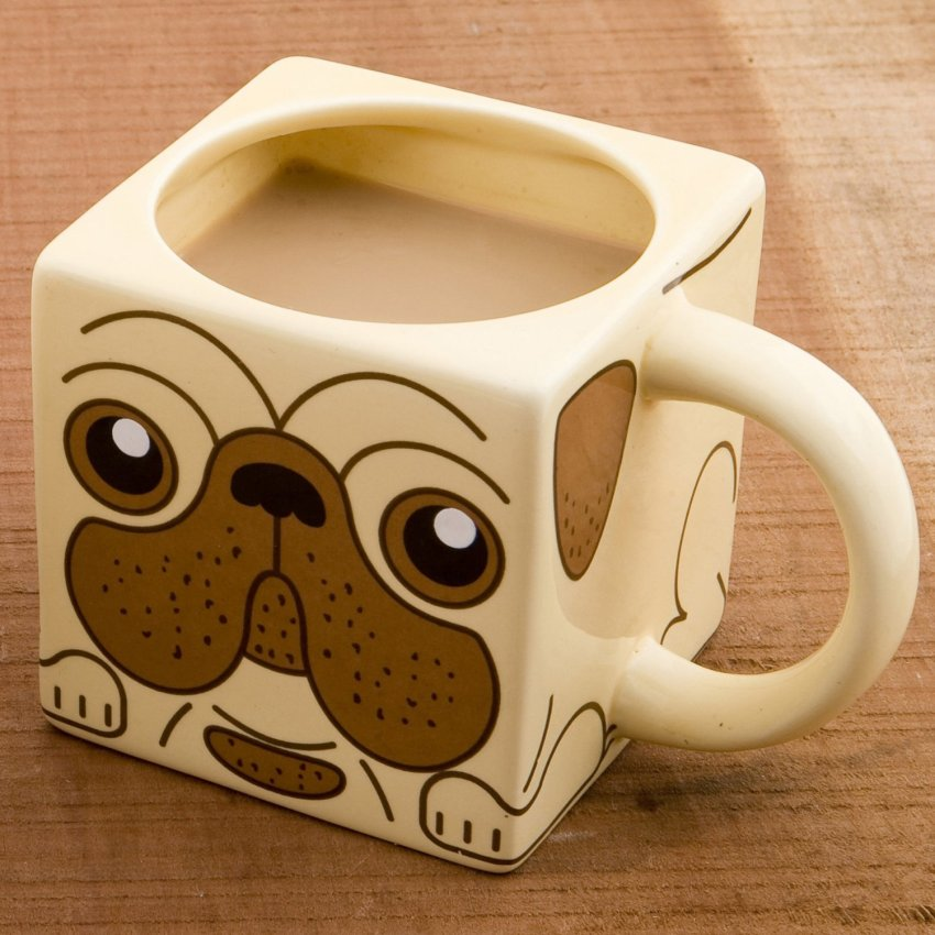 Pug Tea and Coffee Mug