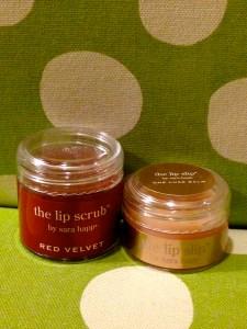 The Lip Scrub- Red Velvet by Sara Happ & The Lip Slip by Sara Happ