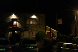 The Hop Pole Inn on a cold November evening