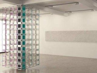 Carla Arocha & Stéphane Schraenen: Column, 2015, Acrylic, stainless steel and Plexiglas, 300 x 130 x 130 cm. Courtesy of the artists. Simulation by Pieter Maes