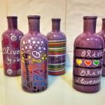 purple botellas
