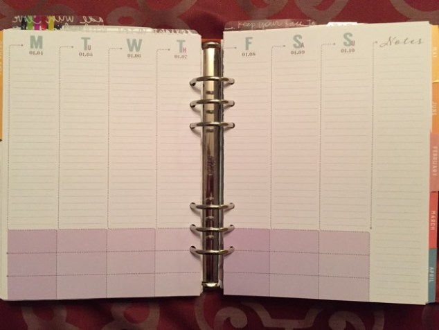 planner, planners, inserts, weekly, inkwell press, flex layout, classic layout, horizontal layout, vertical layout, booklet, ring-bound