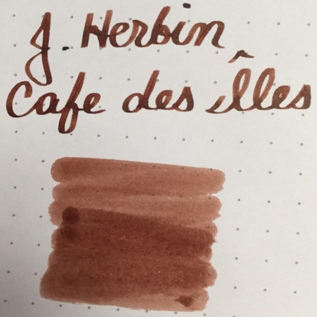 fountain pen, fountain pen inks, jherbin, j herbin, jherbin cafe des iles, rhodia, dot grid, holiday, gift ideas