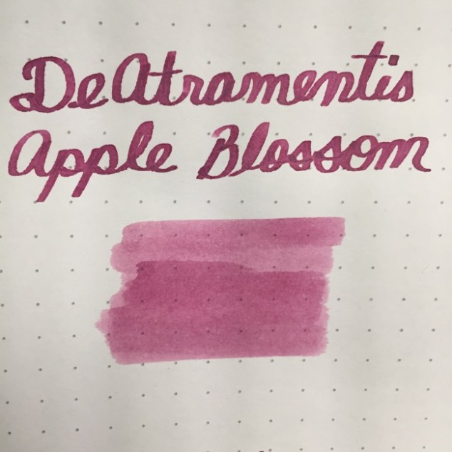 fountain pen, fountain pen inks, deatramentis, de atramentis, deatramenetis apple blossom, rhodia dot grid, holiday, gift ideas