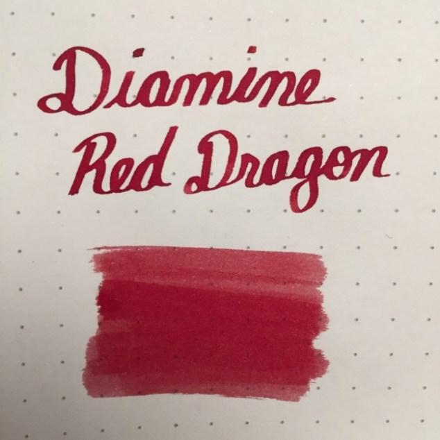 fountain pen, fountain pen inks, diamine, diamine red dragon, rhodia, dot grid, holiday, gift ideas