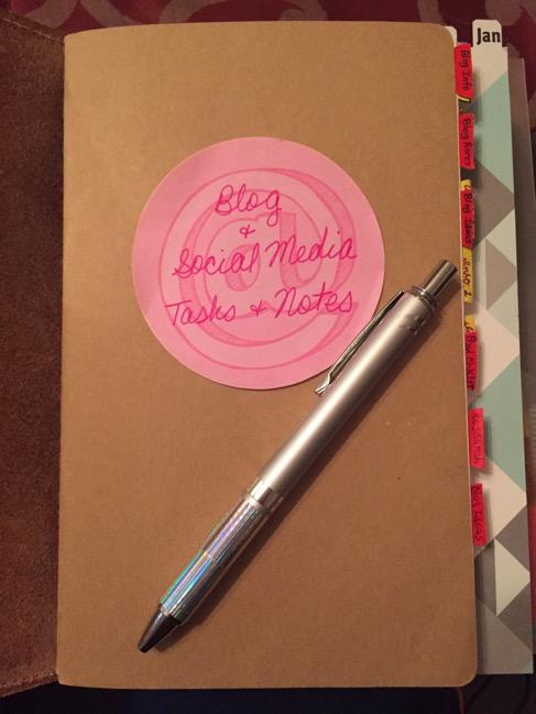 Moleskine cahier, journal, notebook, planner, blog planner