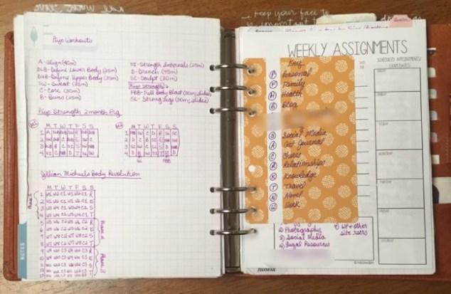 planner, binders, van der spek, vds, planner setup, inkwell press, notes section, custom inserts