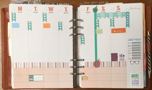 planner, planners, planner setup, week on two pages, inkwell press, primary planner, personal planner, family planner, fitness planner