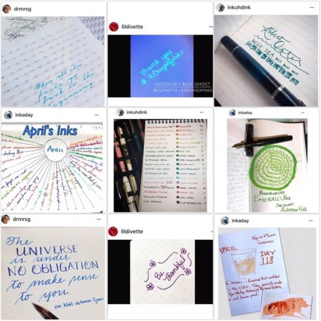 fountain pen ink, instagram challenge, #30daysofinks