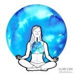 #magicmoonweek illustration challenge instagram art illustrator yoga yogi yogaart lilian leahy illustrations