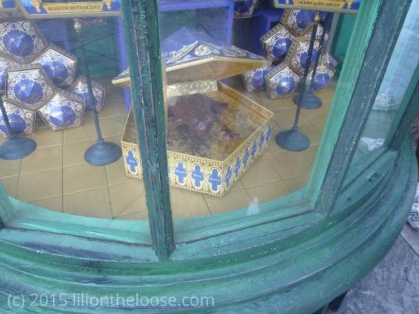 Honeydukes window display.