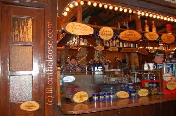 A quaint wooden market stall.