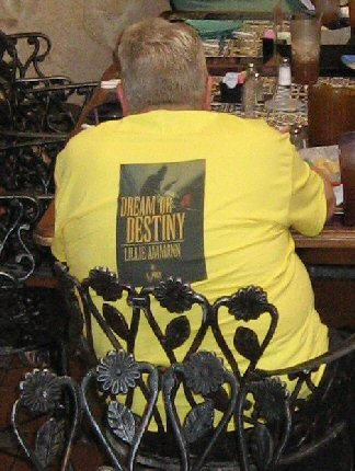 Dream or Destiny cover on Jack's T-shirt