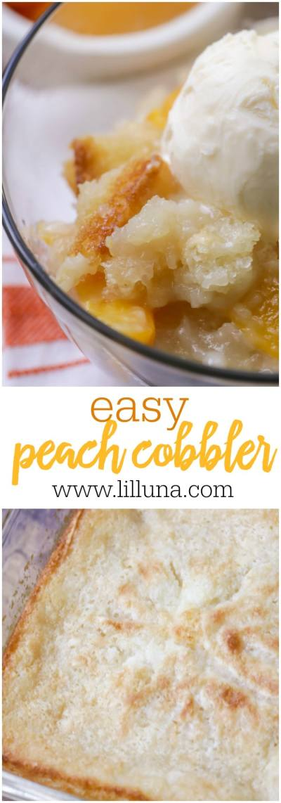 EASY Peach Cobbler Recipe - Just 5 Minutes of Prep Time ...