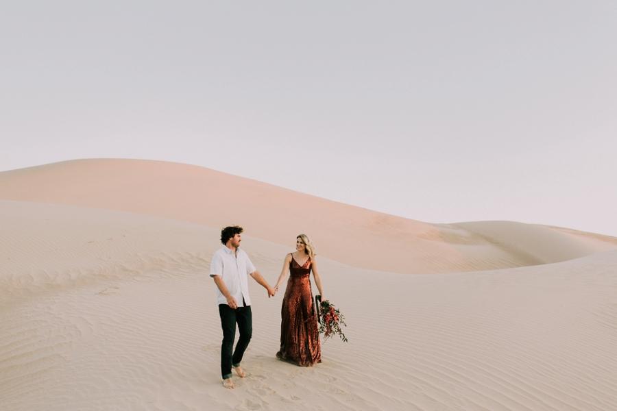 Nick Katy Sand Dune Engagement Lillywhite Photography