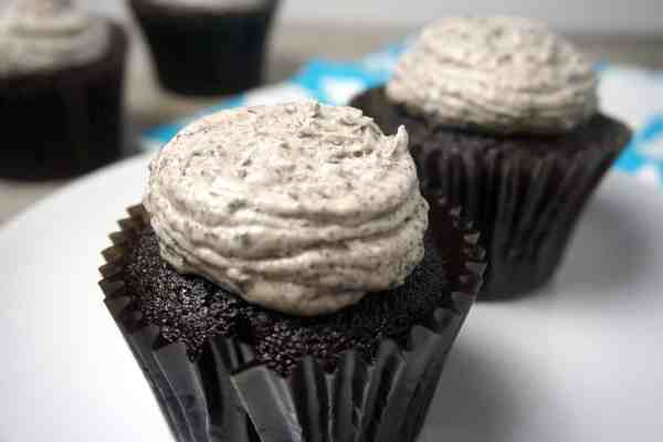 Crio Bru Chocolate Cupcakes with Cookies 'n Cream Buttercream Frosting -- Stop right here! This the only chocolate cupcake recipe you'll ever need. -- lilsweetspiceadvice.com