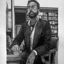 Nicholas Jones, ink on paper, 56 x 76cm, 2013